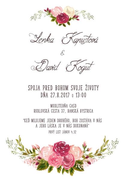 Pozvánka na svadbu