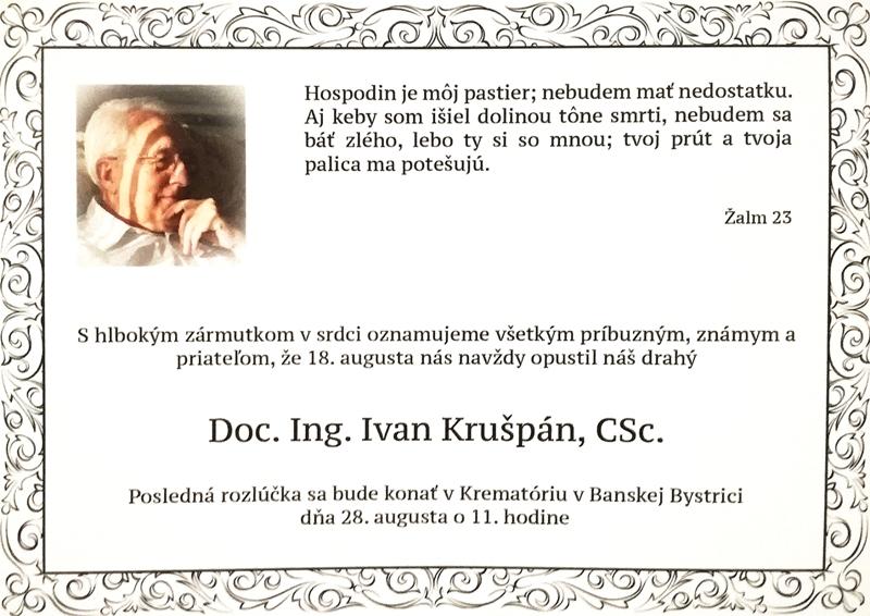 Parte - rozlúčka s Ivanom Krušpánom